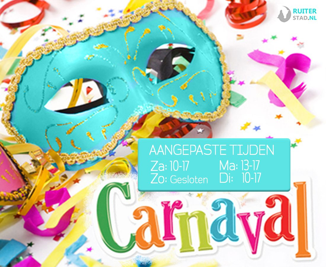 Wij zijn open met Carnaval